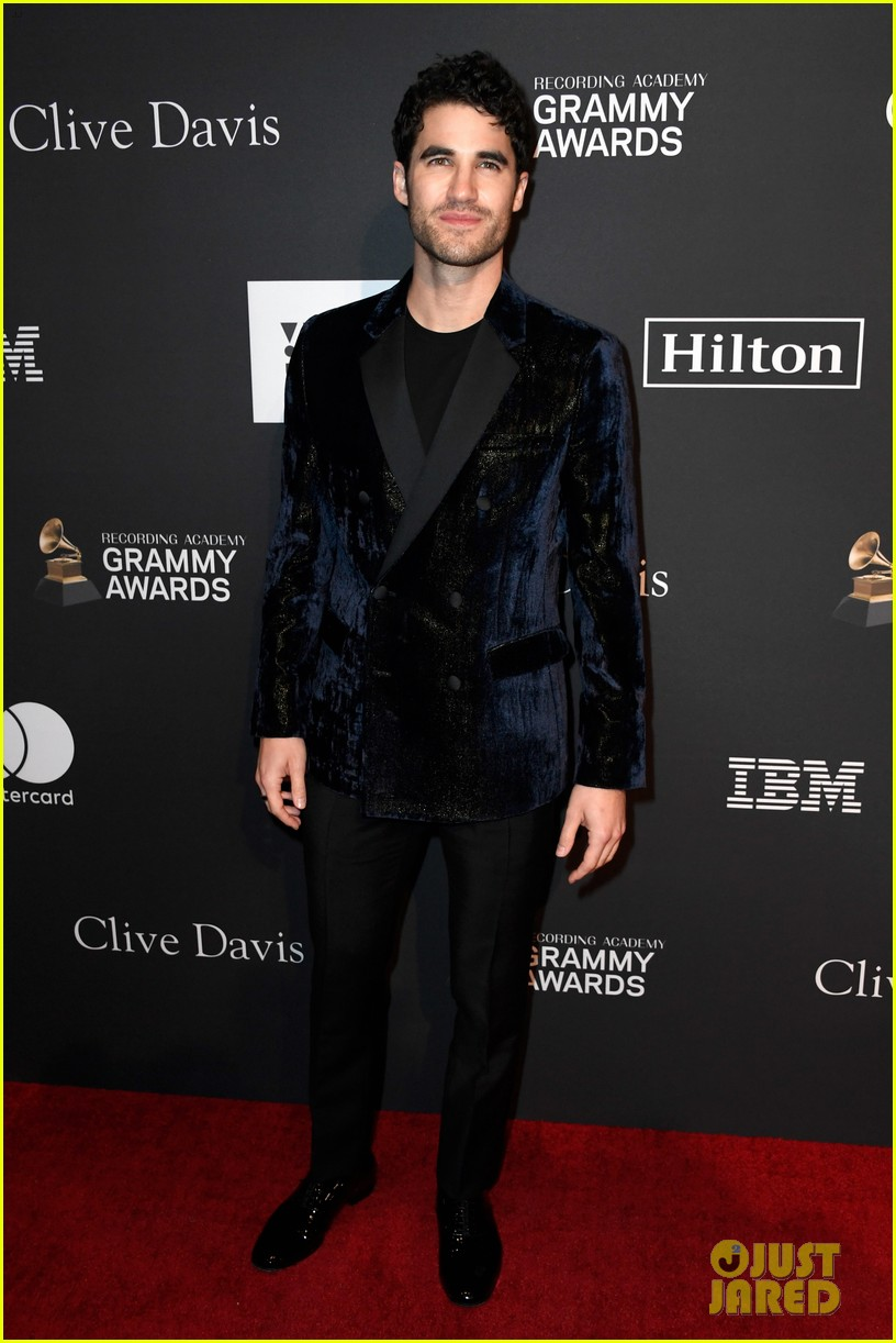 darren criss looks so handsome at clive davis pre grammys party 054227966