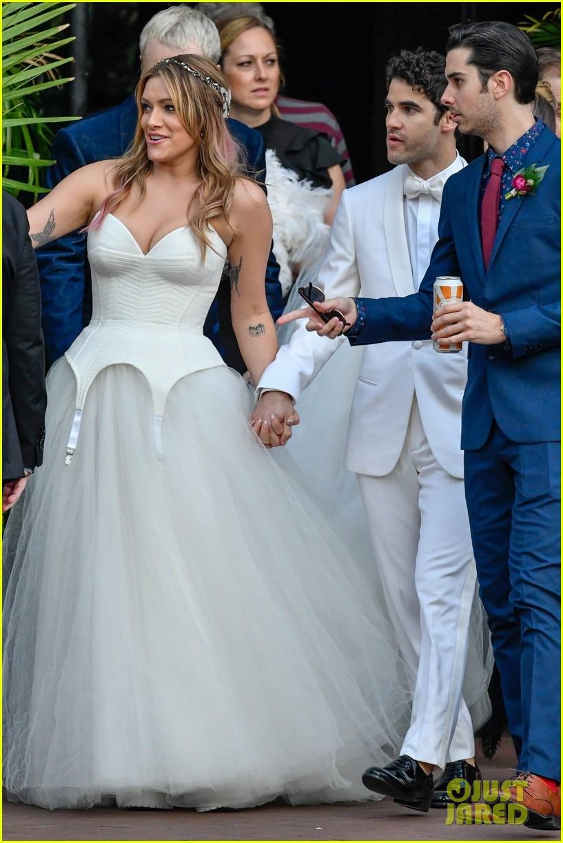 darren criss mia swier are married see their wedding photos 184240247