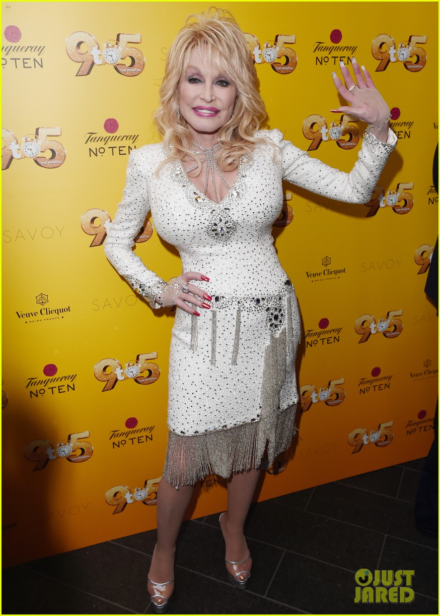 Dolly Parton Kylie Minogue Luke Evans Attend 9 To 5 The Musical In London