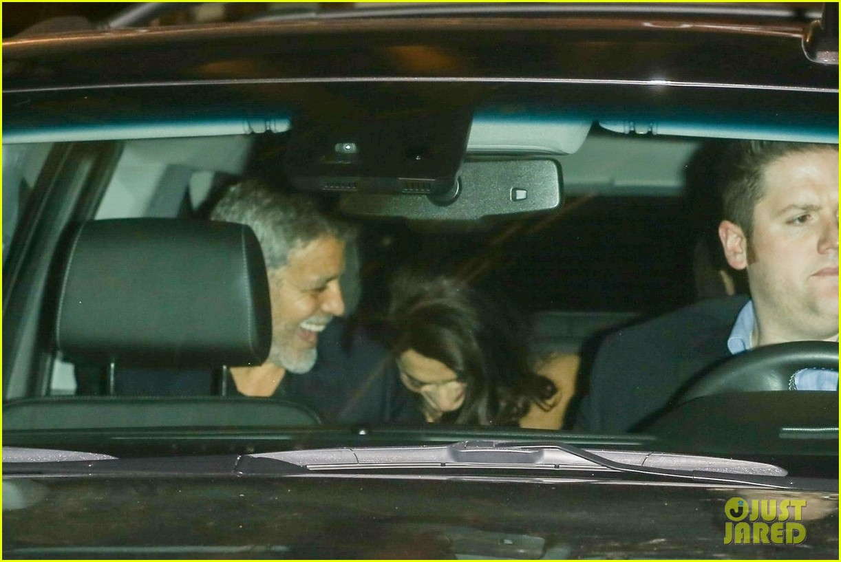 George & Amal Clooney Are All Smiles After Celebrating Jennifer