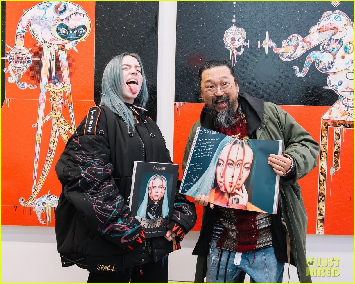 ellie goulding helps garage mag celebrate billie eilish takashi murakami collab 384225158