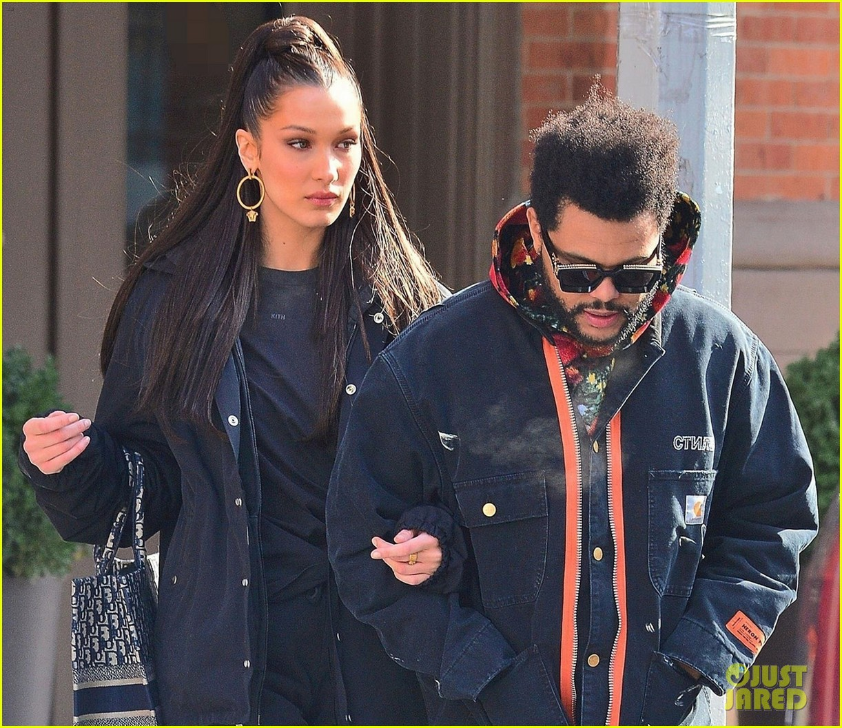bella hadid and the weeknd bundle up while heading out in nyc 02