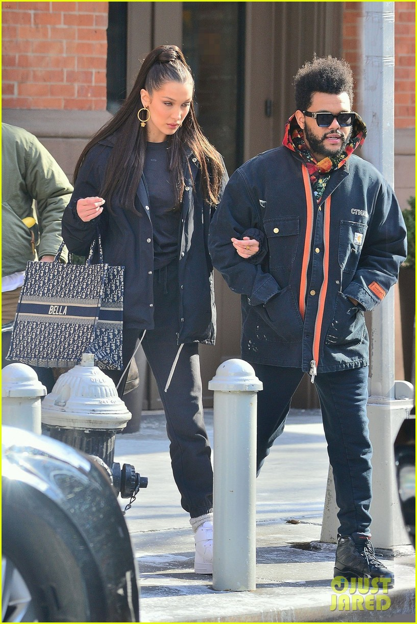 bella hadid and the weeknd bundle up while heading out in nyc 03