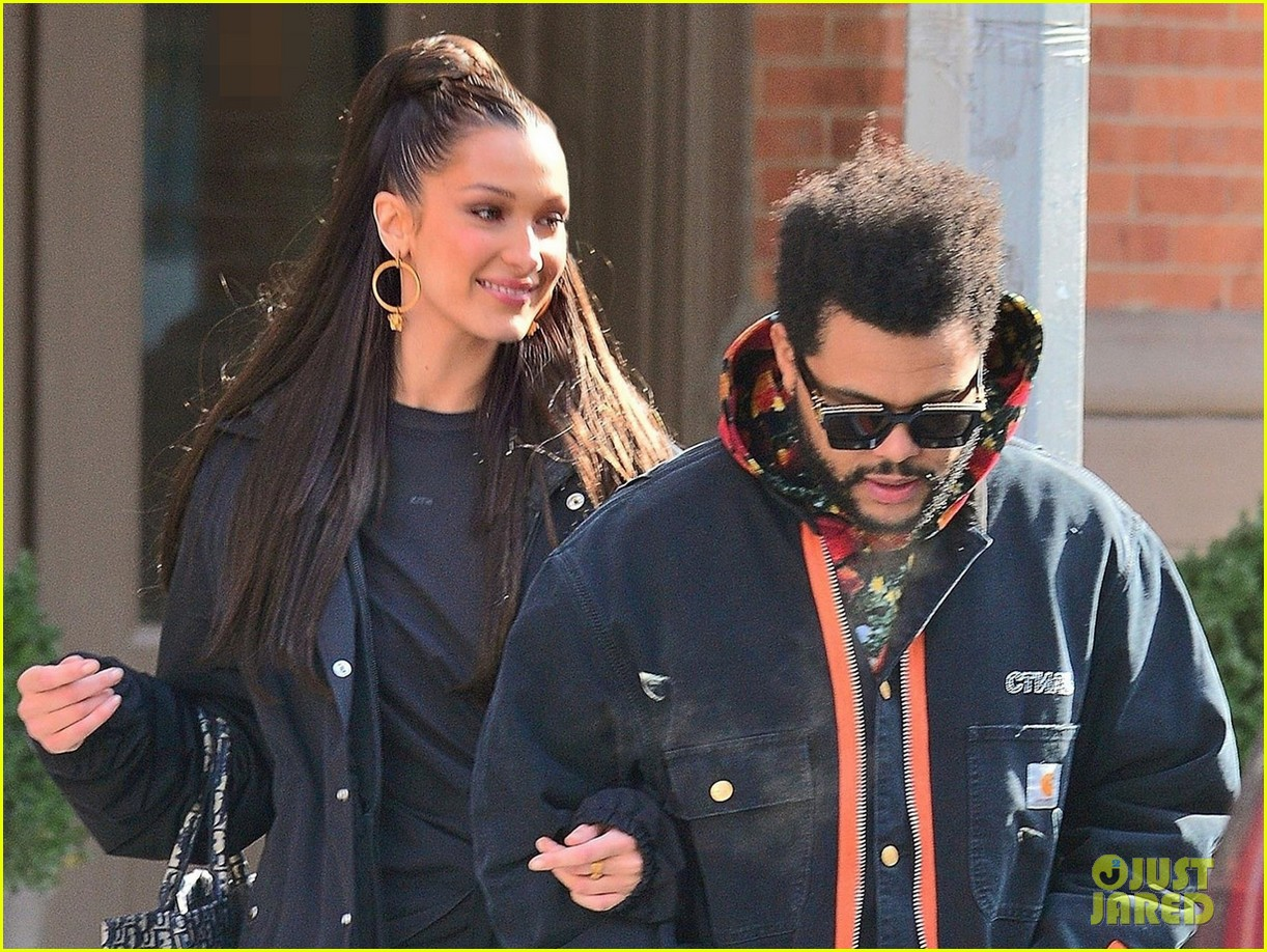 bella hadid and the weeknd bundle up while heading out in nyc 04