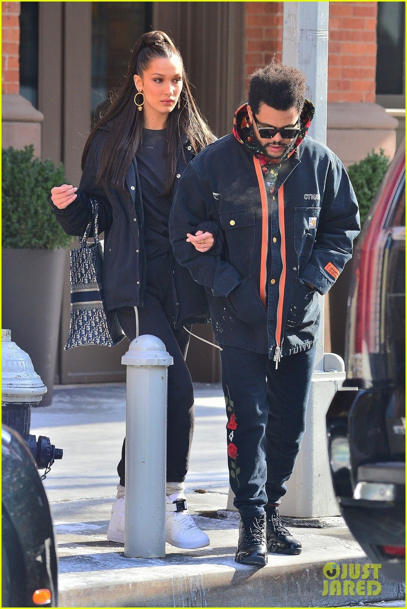 bella hadid and the weeknd bundle up while heading out in nyc 05