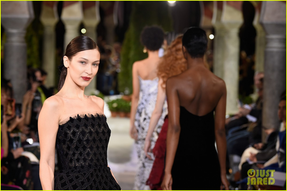 bella hadid stuns at the oscar de la renta fashion show 10