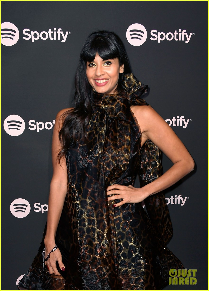 james blake jameela jamil couple up at spotify pre grammy party 314225961