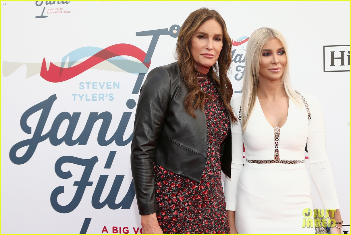caitlyn jenner joined by sophia hutchins at steven tyler grammy viewing party 02