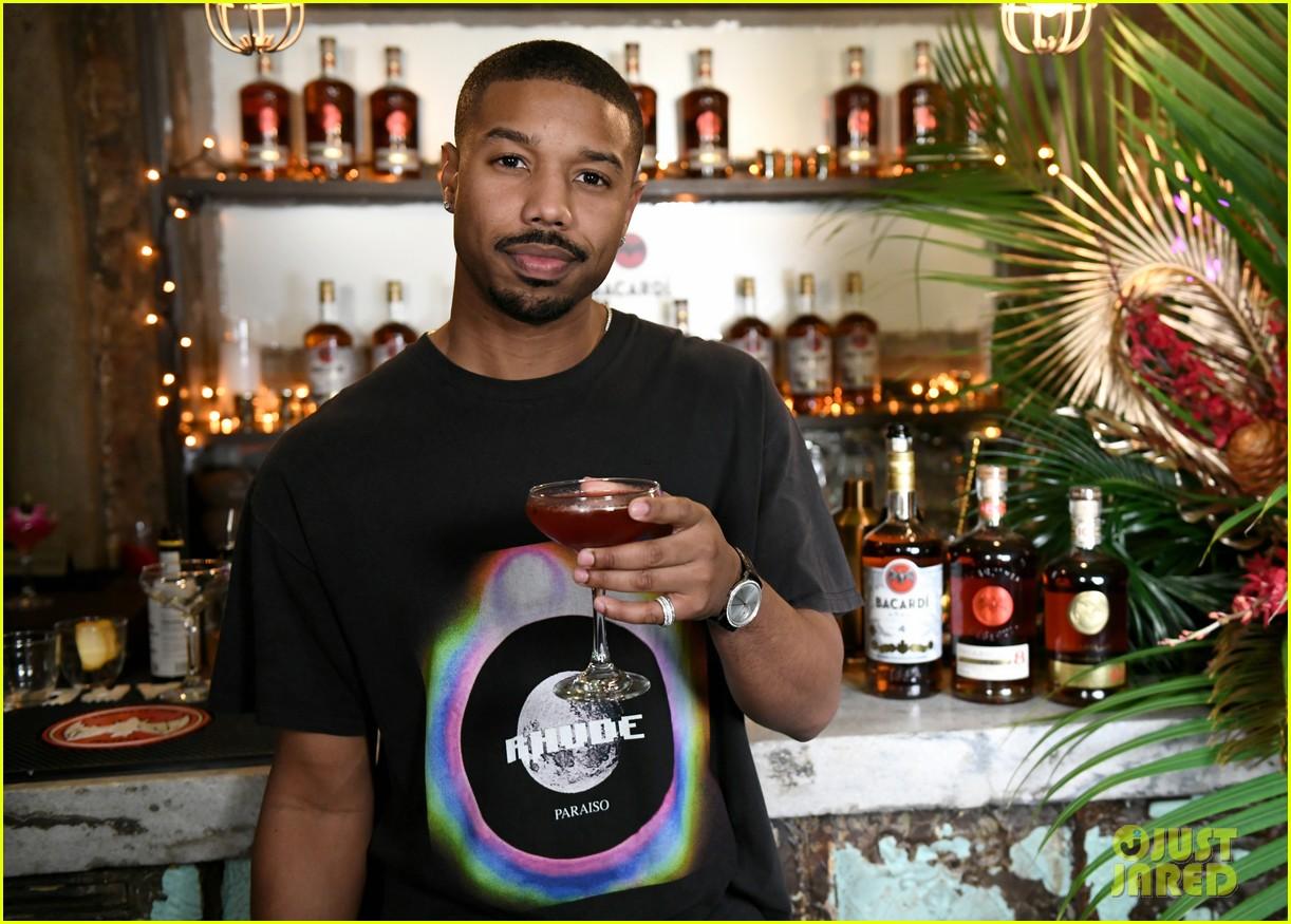 michael b jordan mixed up drinks with bacardi 034238971