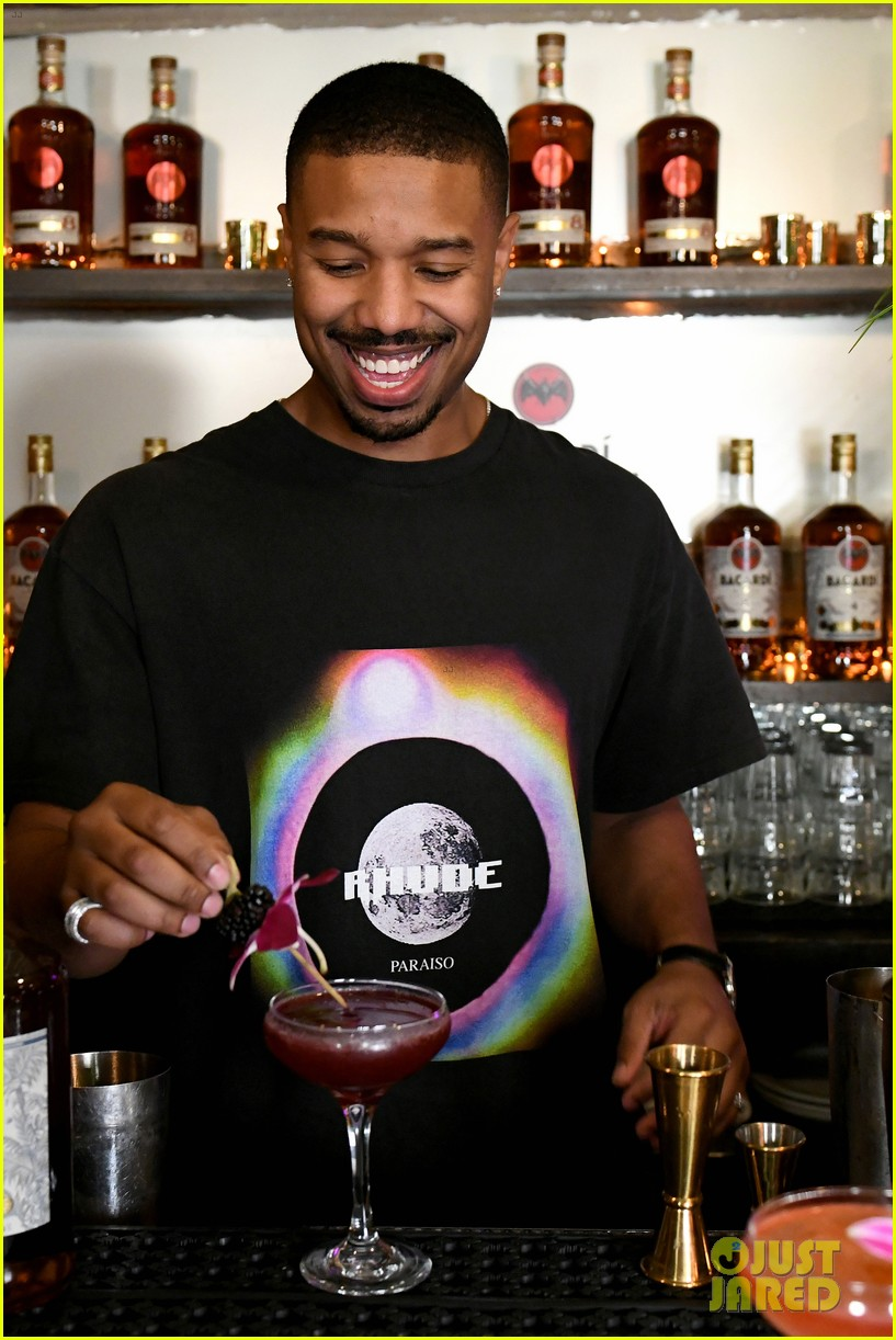 michael b jordan mixed up drinks with bacardi 054238973