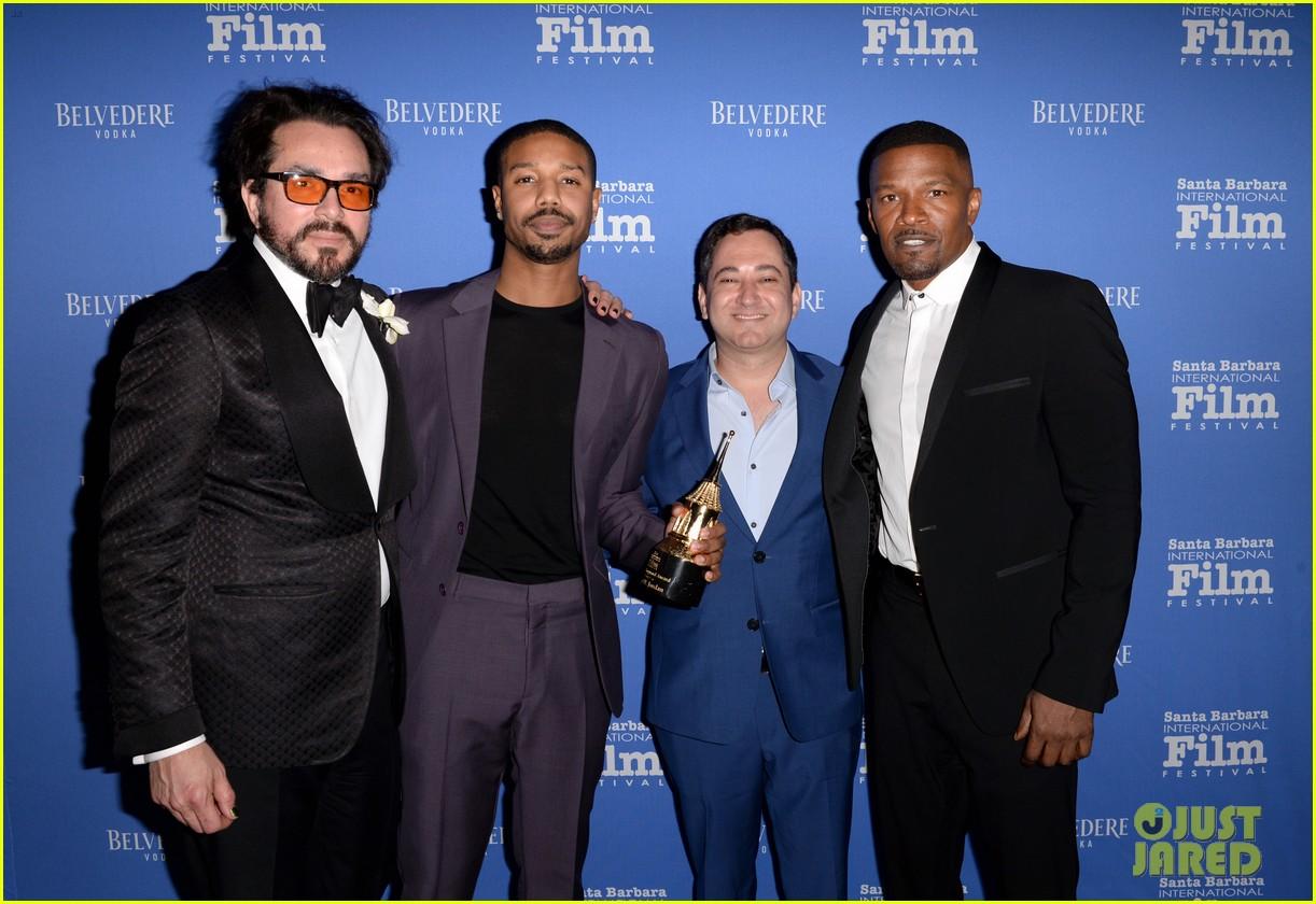 michael b jordan honored with cinema vanguard award at santa barbara film fest 114226062
