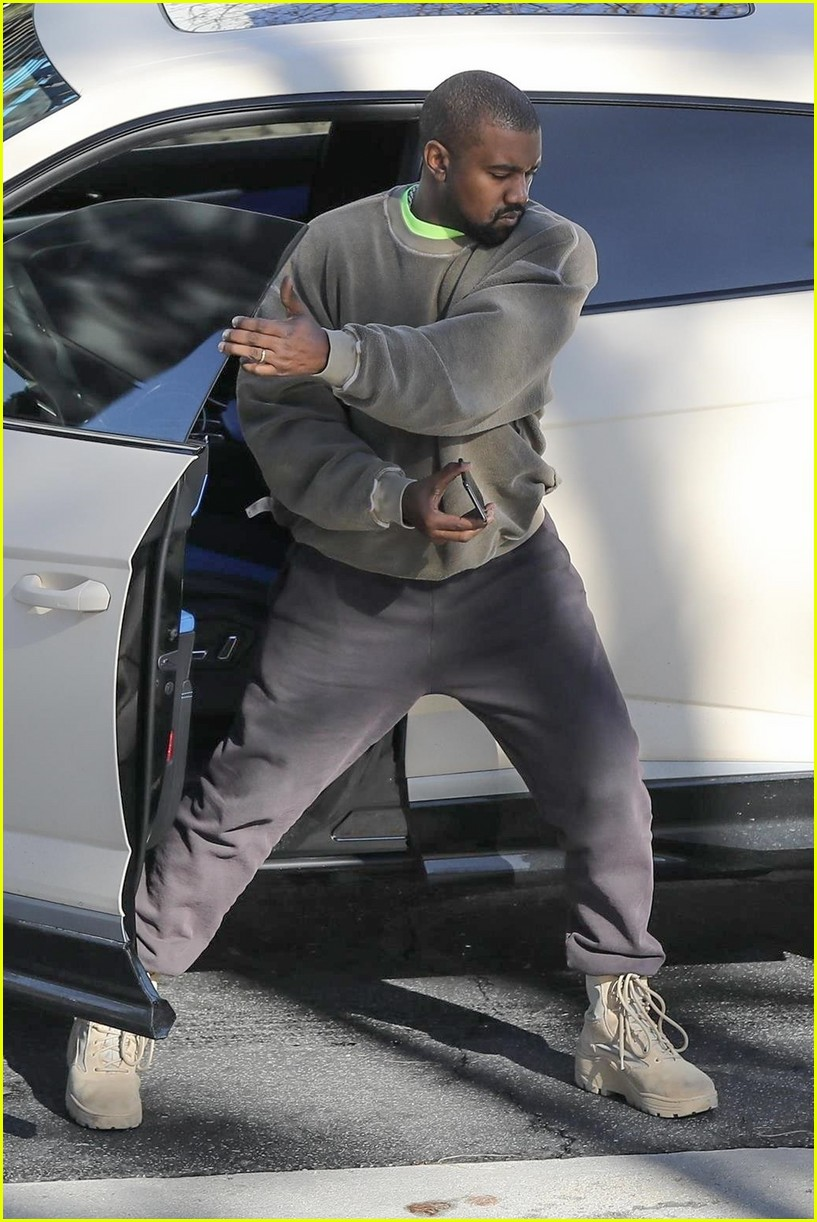 Kanye West Heads To The Office After Buying A Lamborghini