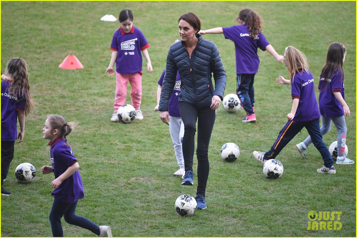 kate middleton plays soccer northern ireland visit 424248730