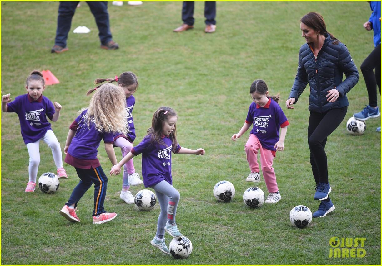 kate middleton plays soccer northern ireland visit 434248731
