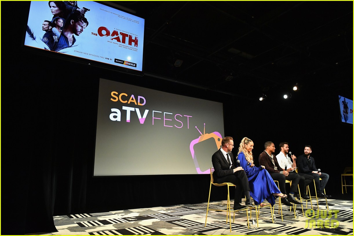 ryan kwanten and leona lewis attend the oath screening at scad atvfest 19