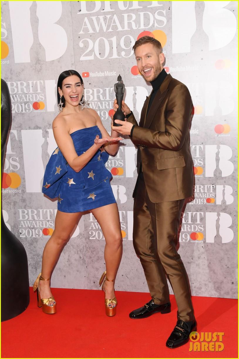 dua lipa performs one kiss with calvin harris at brit awards 2019 054241724