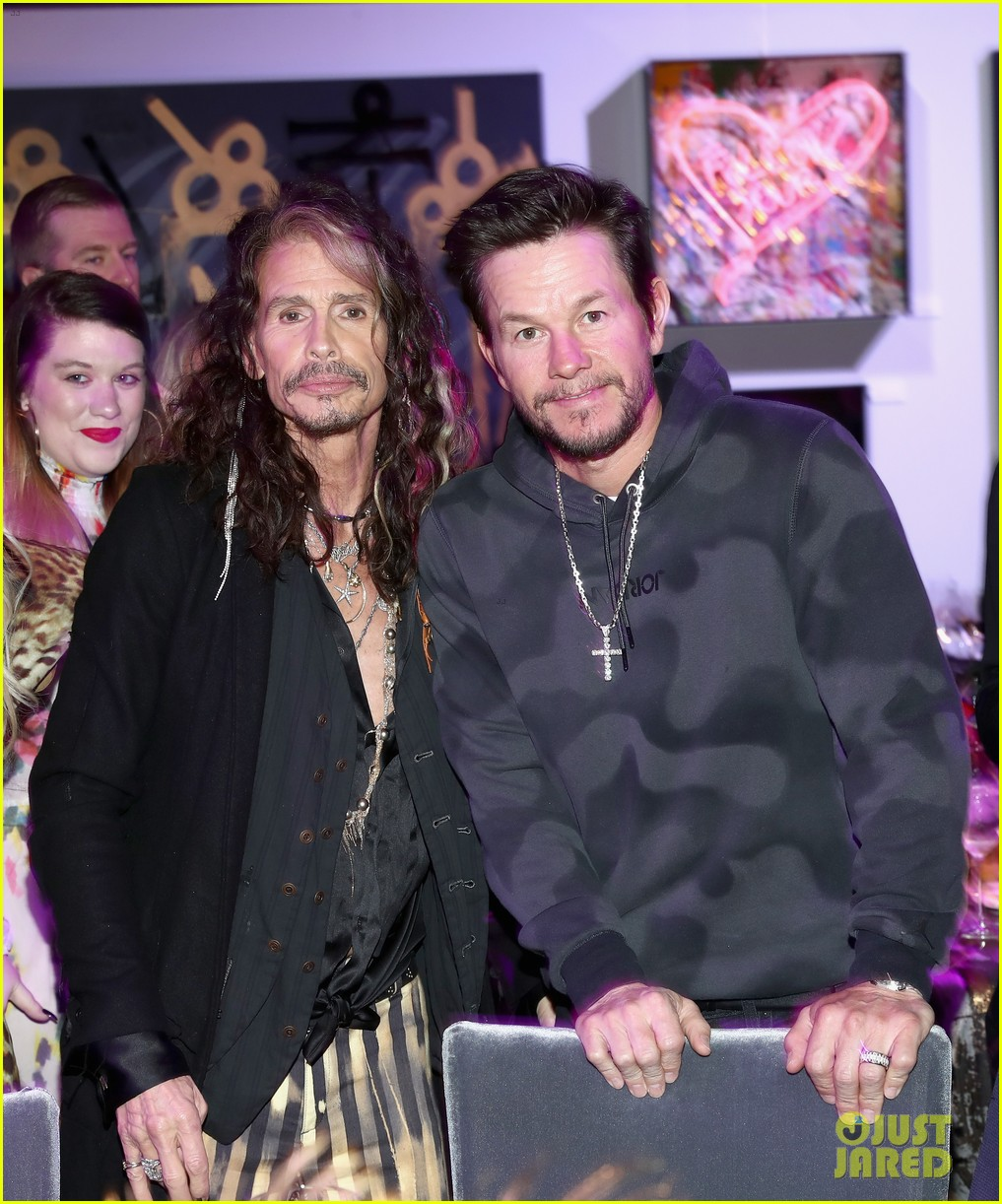 mark wahlberg steps out for steven tyler grammy viewing party 044236926