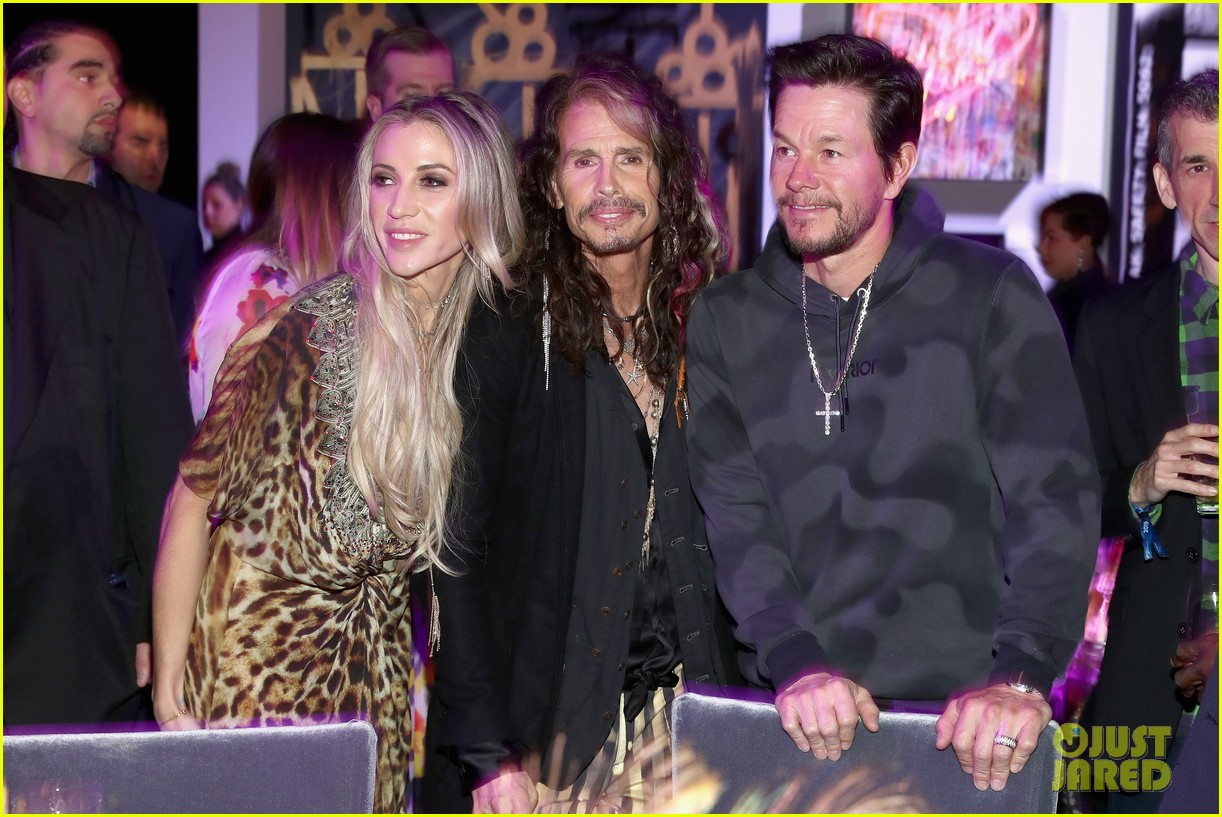 mark wahlberg steps out for steven tyler grammy viewing party 114236933
