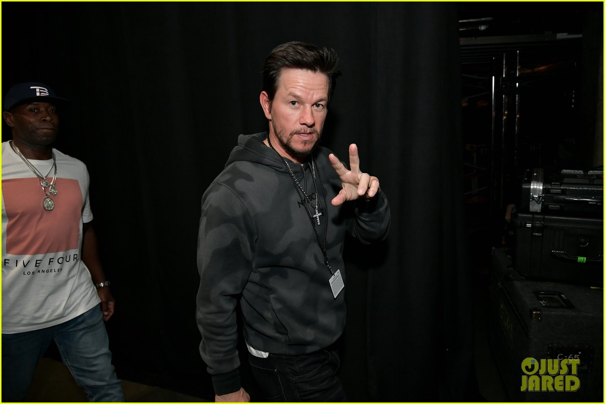 mark wahlberg steps out for steven tyler grammy viewing party 124236934