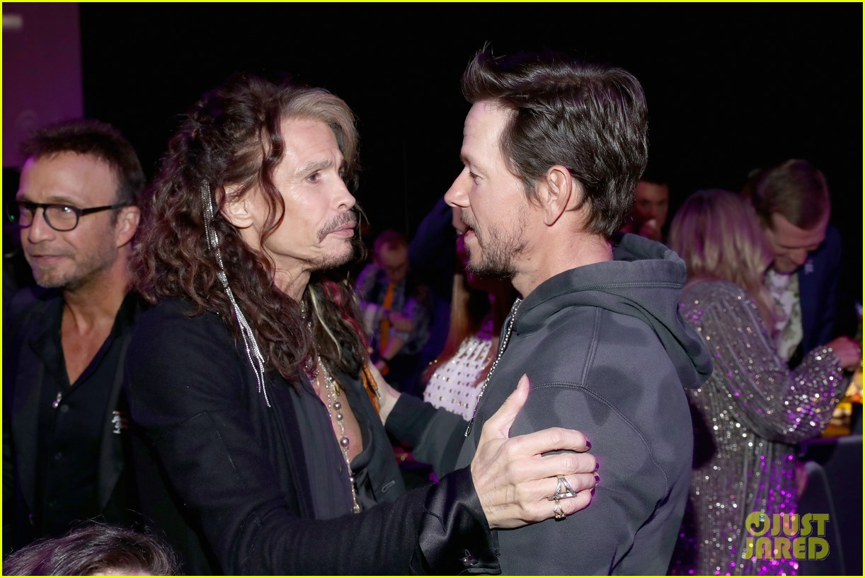 mark wahlberg steps out for steven tyler grammy viewing party 134236935