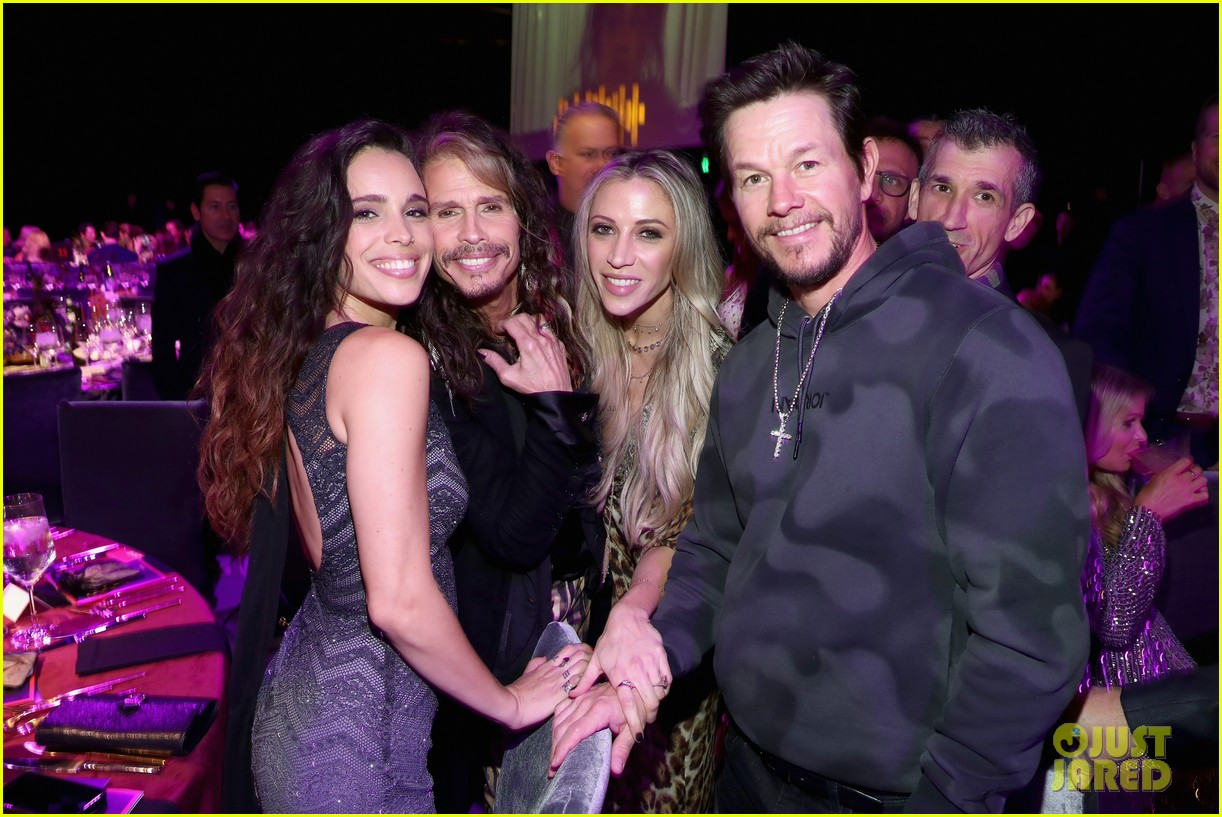 mark wahlberg steps out for steven tyler grammy viewing party 144236936
