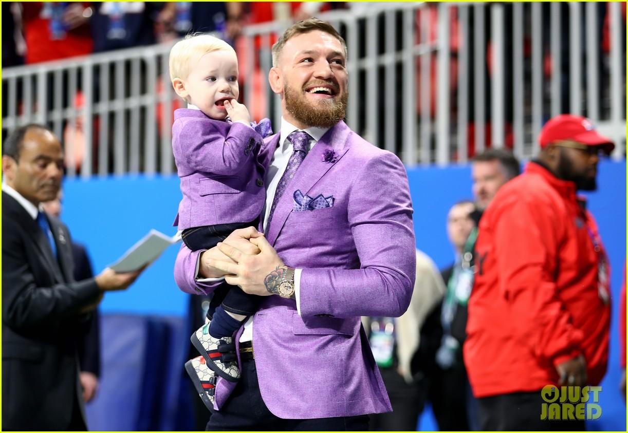 conor mcgregor son conor jr suit up for super bowl 2019 05