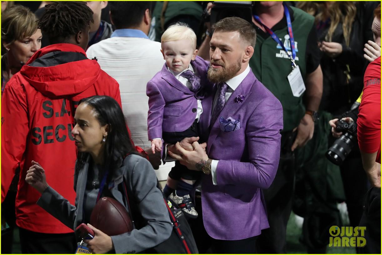 conor mcgregor son conor jr suit up for super bowl 2019 13