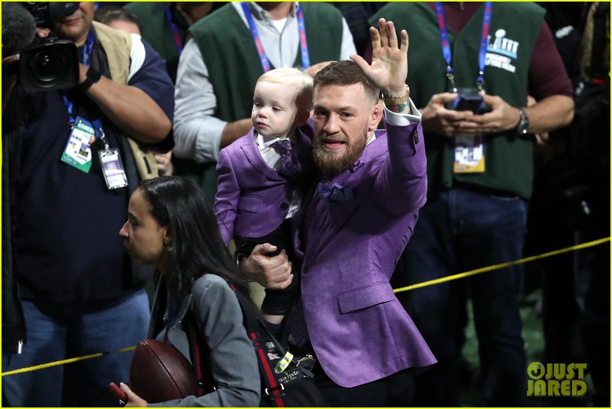conor mcgregor son conor jr suit up for super bowl 2019 15