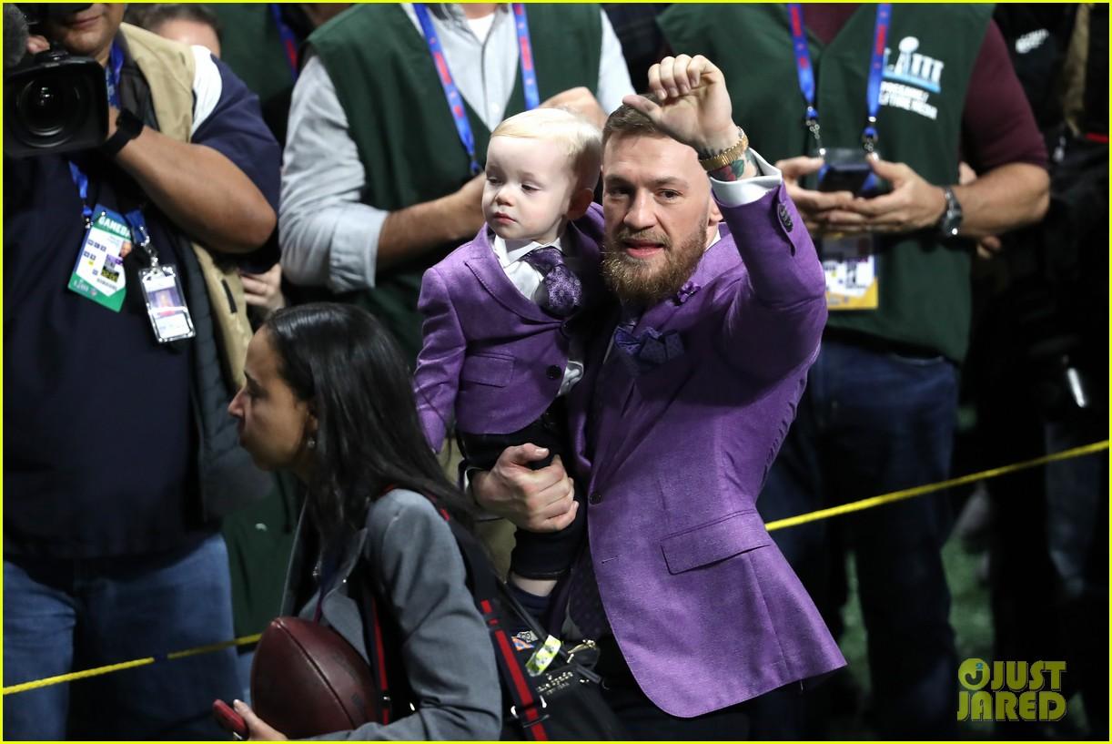 conor mcgregor son conor jr suit up for super bowl 2019 17