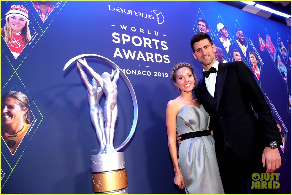 novak djokovic lindsey vonn laureus awards 12