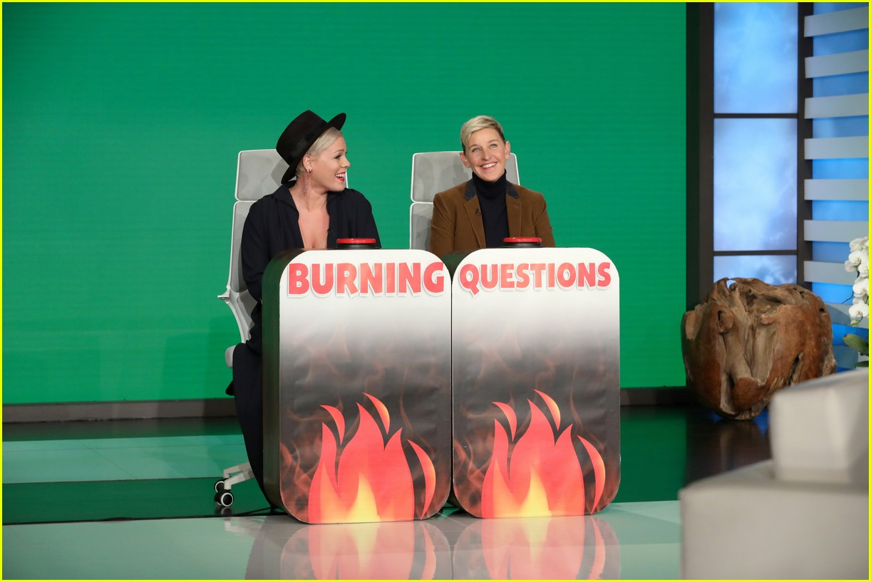 pink ellen burning questions
