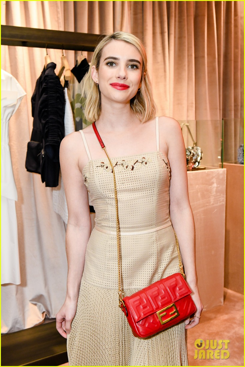 emma roberts amanda seyfried step out for fendi event in nyc 06