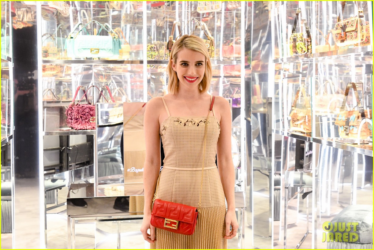 emma roberts amanda seyfried step out for fendi event in nyc 10