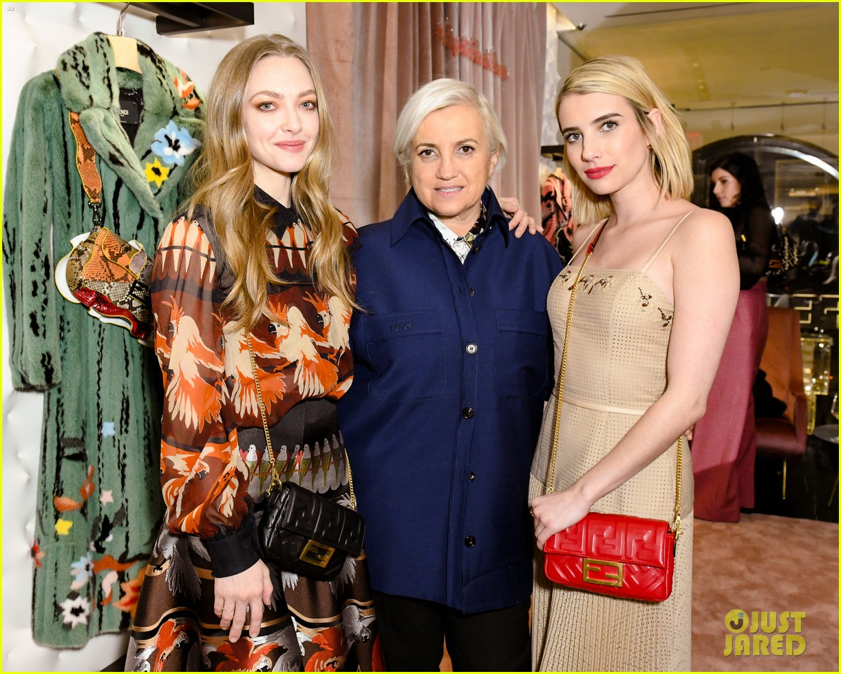 emma roberts amanda seyfried step out for fendi event in nyc 11
