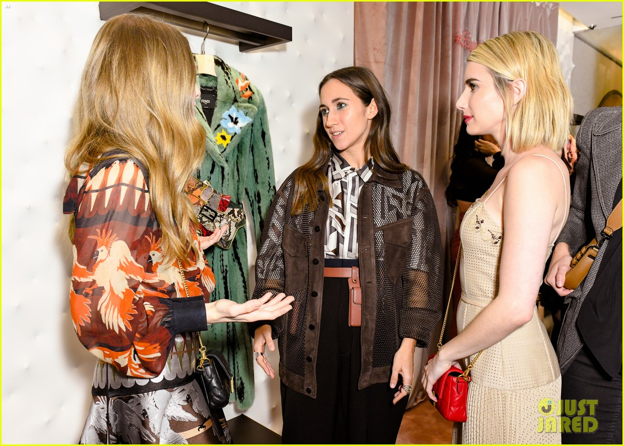 emma roberts amanda seyfried step out for fendi event in nyc 12