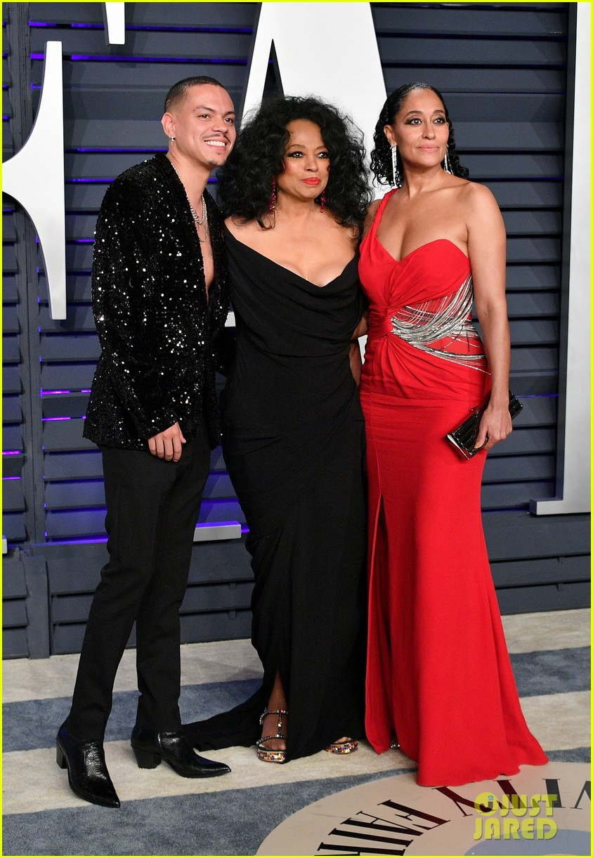 diana ross joins kids tracee evan vanity fair oscar party 084246161
