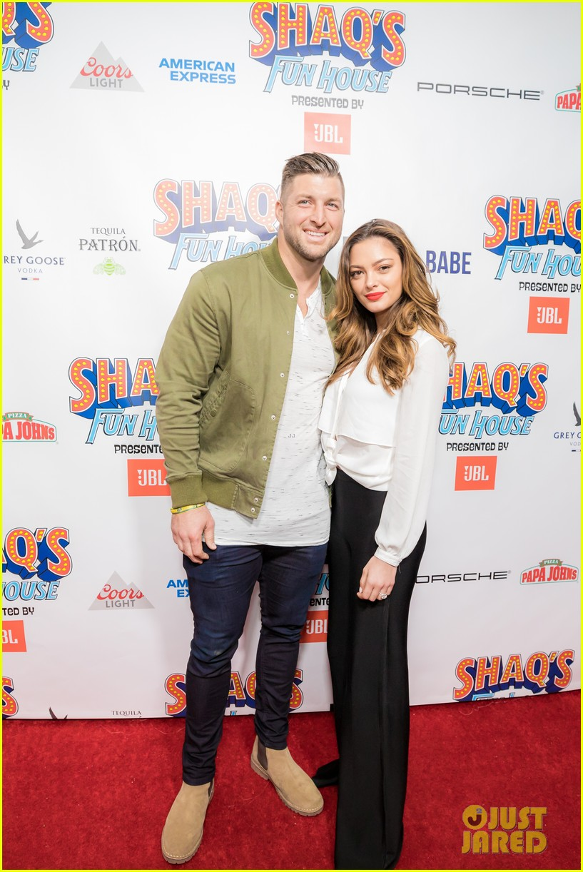 tim tebow demi leigh nel peters join shaq at fun house party 044222592