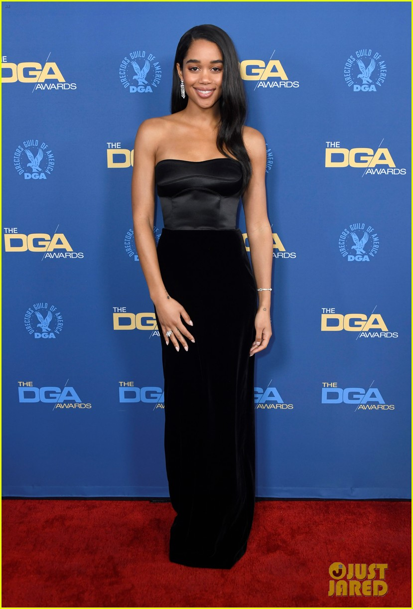 laura harrier topher grace support spike lee at dga awards 01