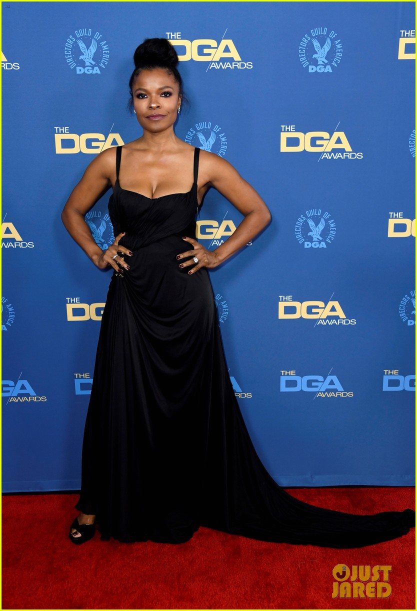 laura harrier topher grace support spike lee at dga awards 08