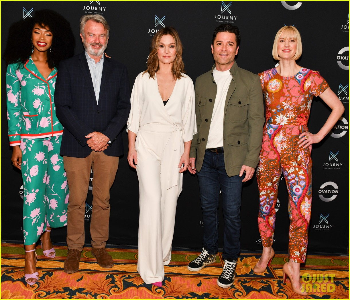 julia stiles promotes riviera season 2 at winter tca tour 2019 174226448
