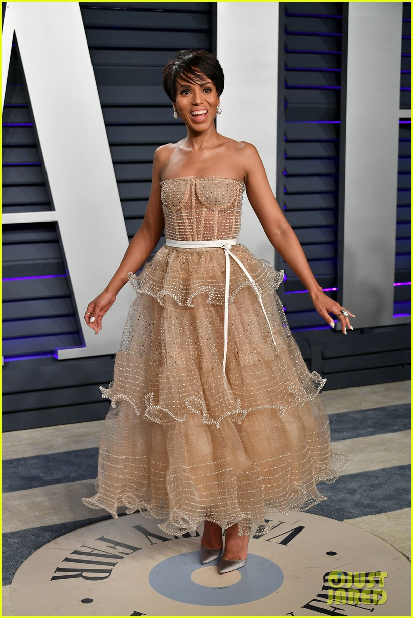 kerry washington chic bob hairstyle vanity fair oscars party 01