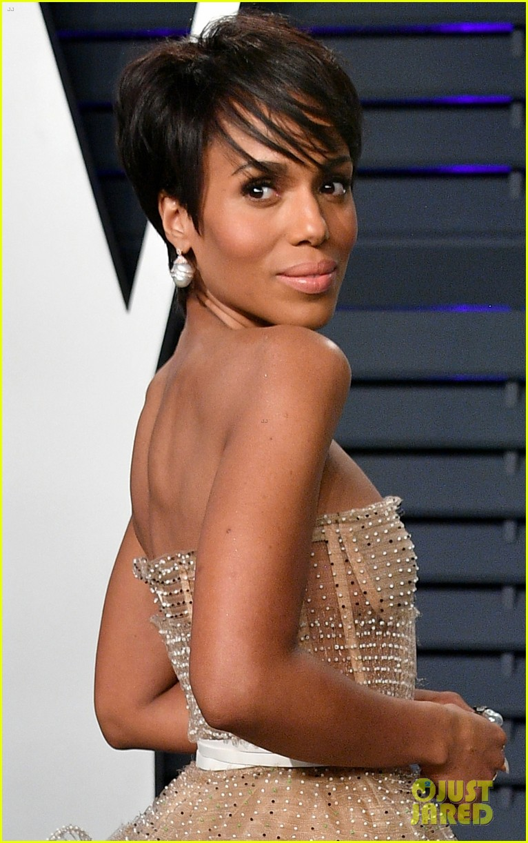 kerry washington chic bob hairstyle vanity fair oscars party 02