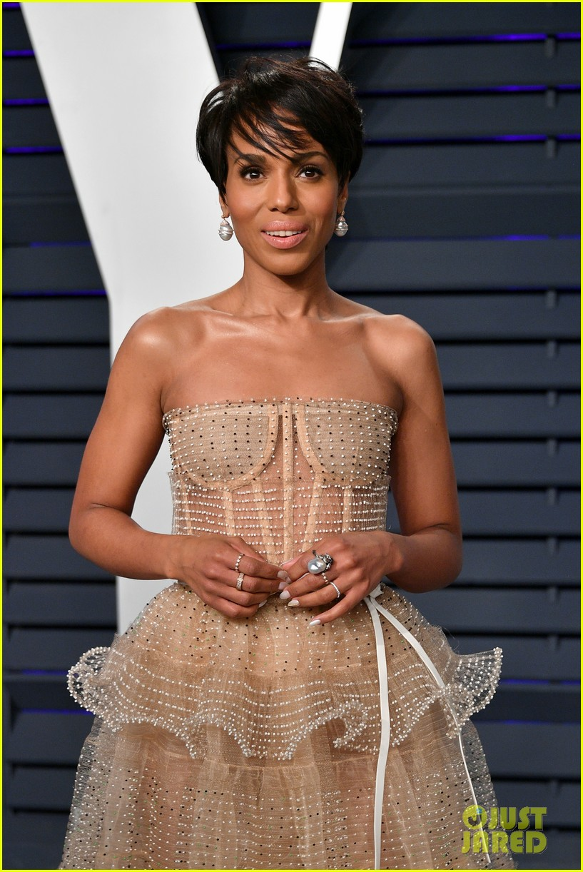 kerry washington chic bob hairstyle vanity fair oscars party 04