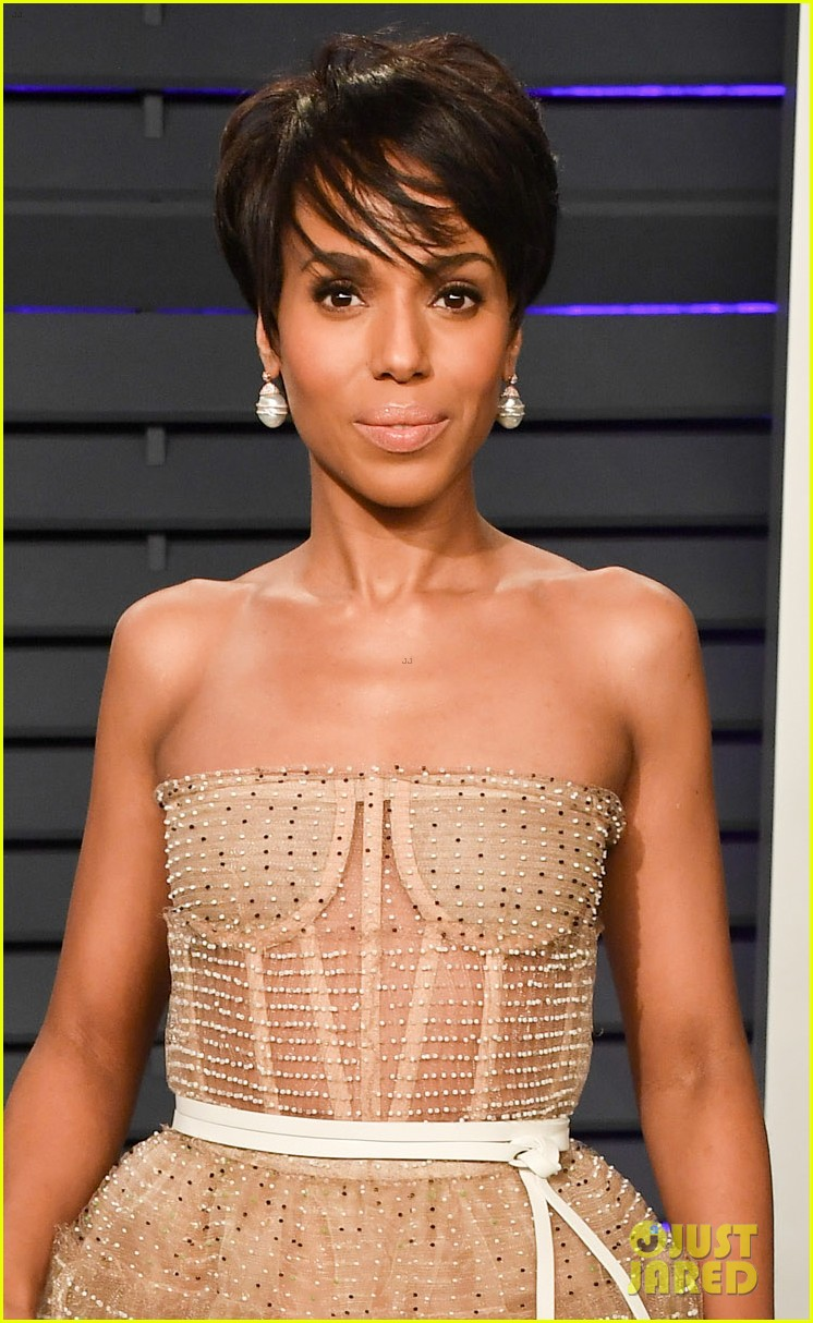 kerry washington chic bob hairstyle vanity fair oscars party 06
