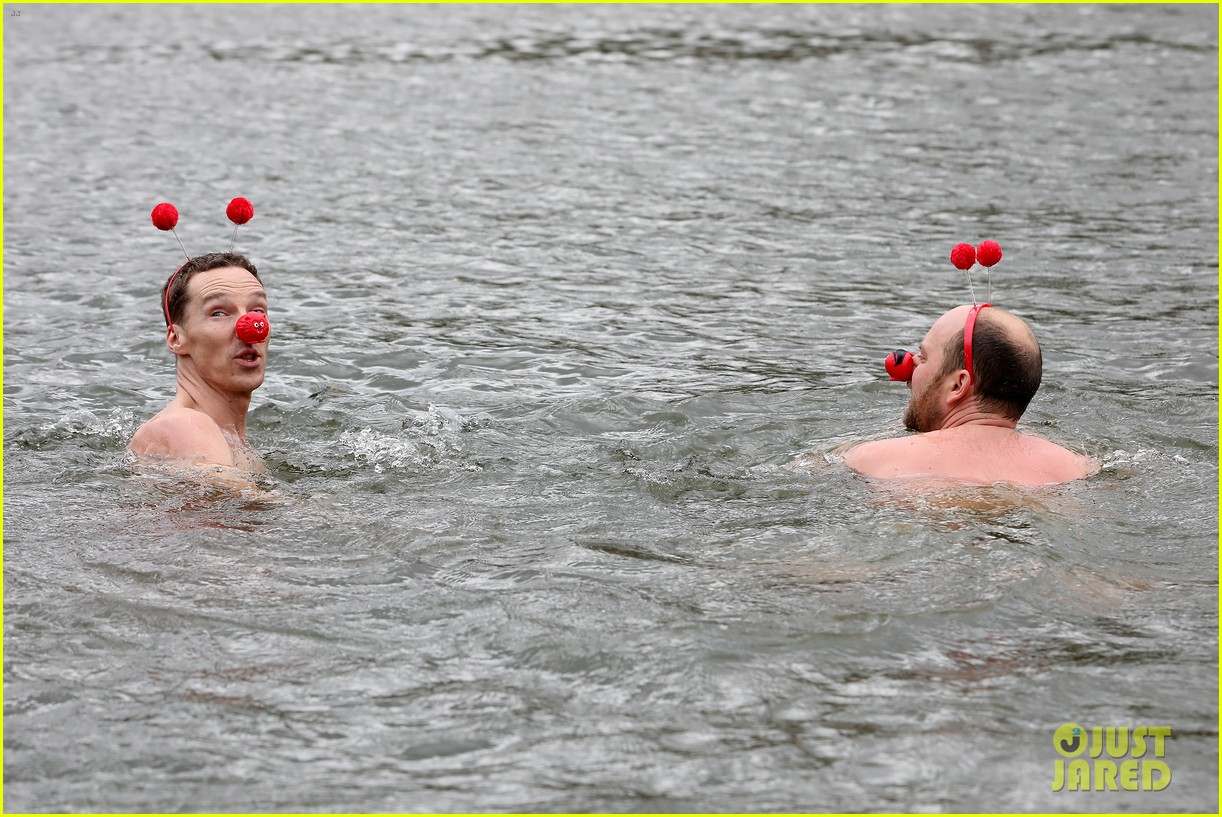 benedict cumberbatch braves cold water for charity 08