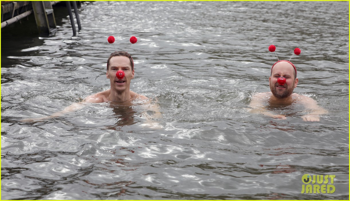 benedict cumberbatch braves cold water for charity 10
