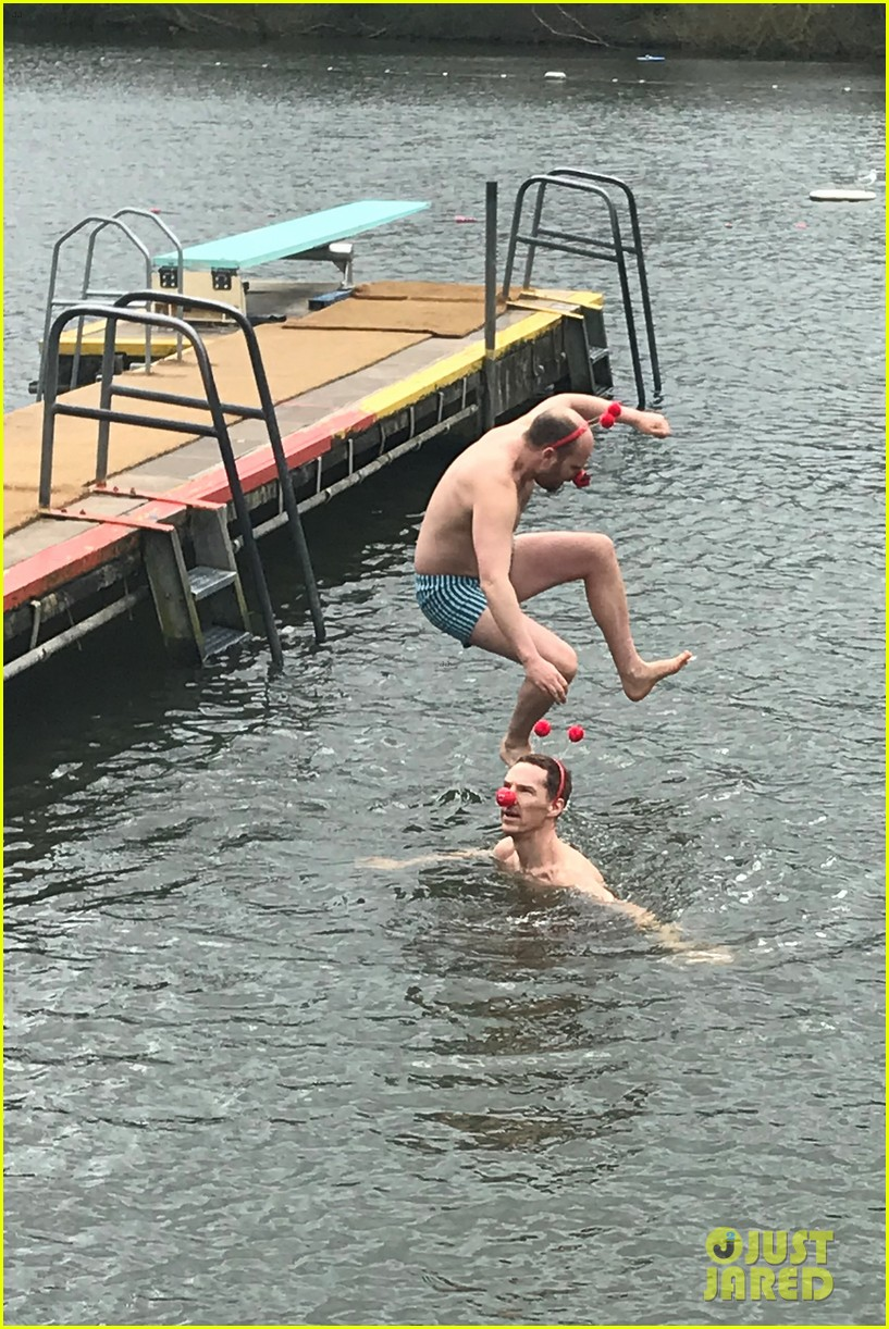 benedict cumberbatch braves cold water for charity 12
