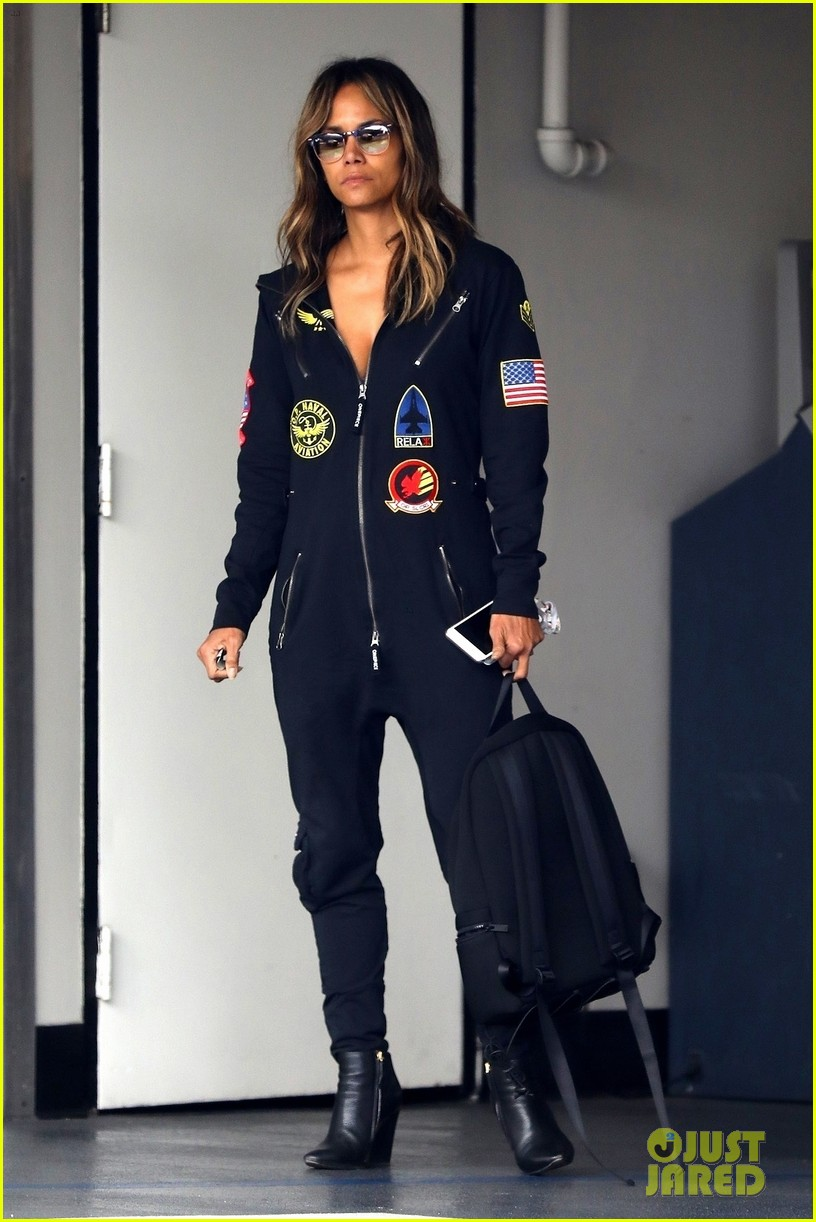 halle berry steps out in aviator onesie in beverly hills 034258143