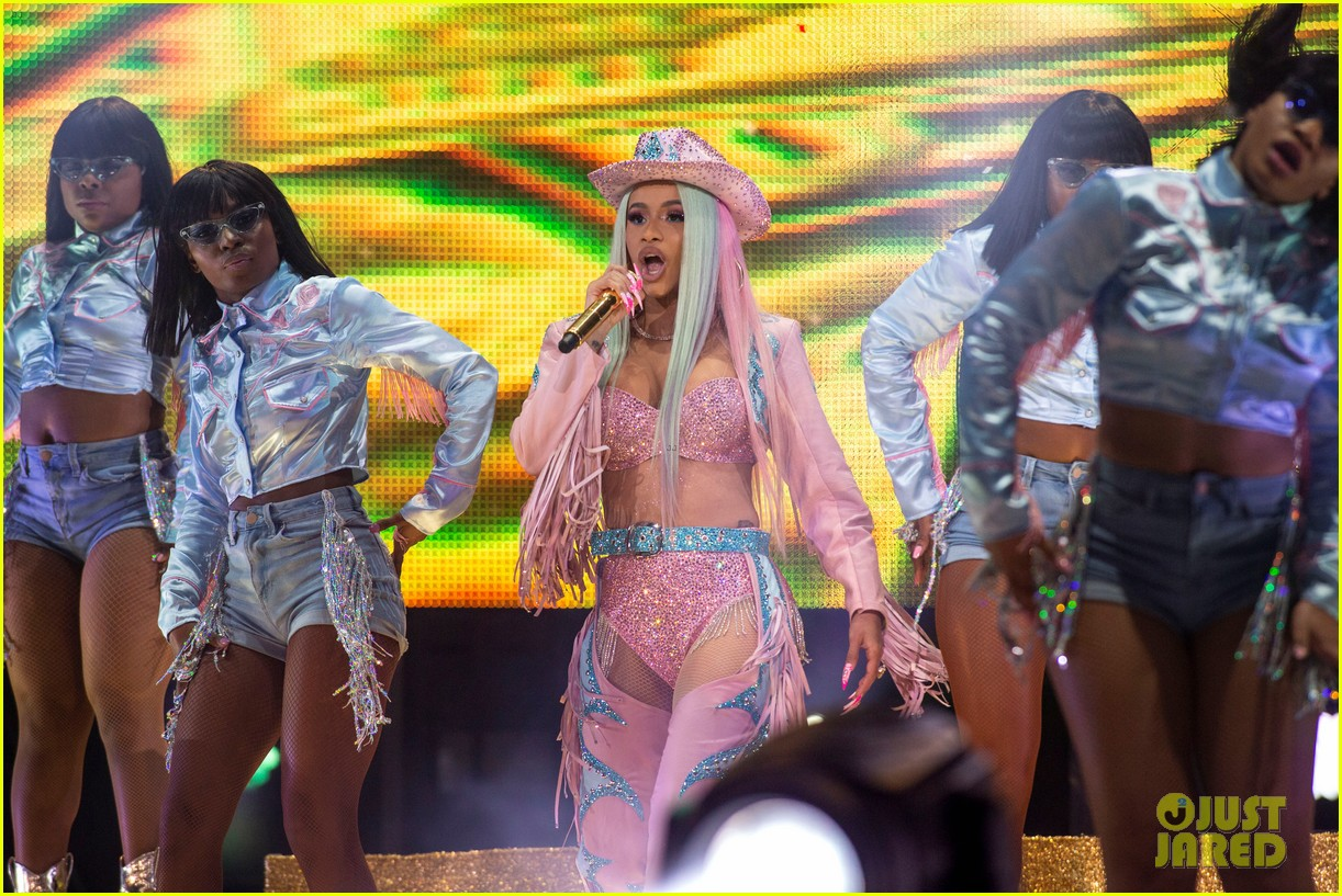 Cardi B Wears Sexy Bedazzled Cowgirl Outfit For Houston