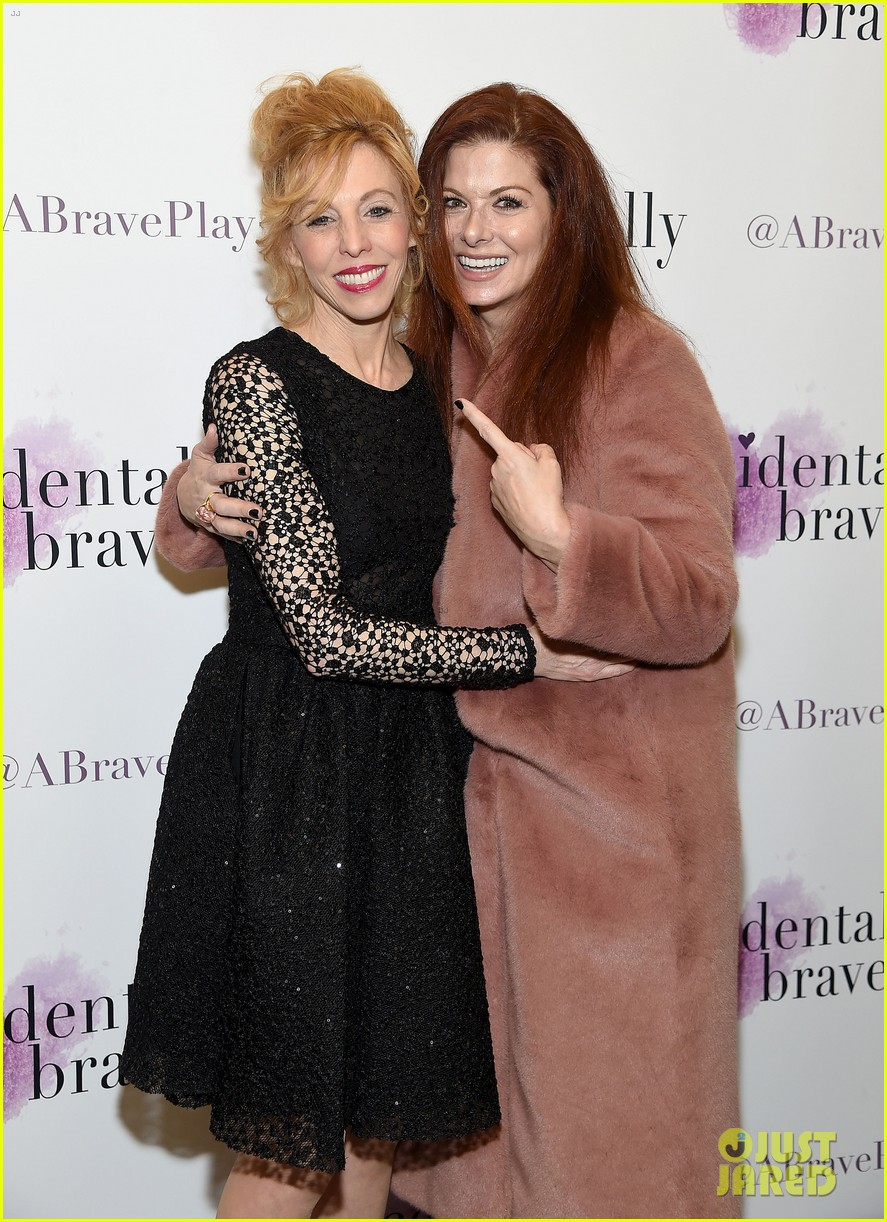 debra messing josh radnor accidentally brave opening night 08